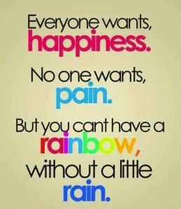 happiness & a little pain