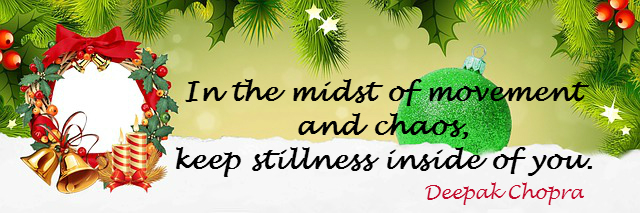 healthy christmas calm